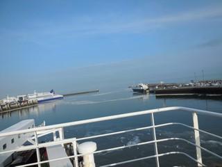 a départ en ferry