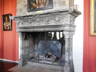 Château de Leeds  intérieur cheminée