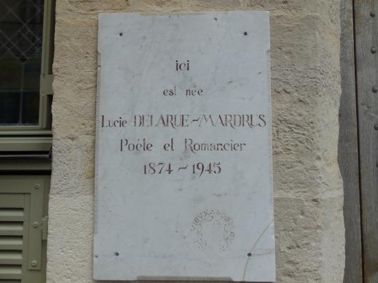 Plaque maison Lucie Delarue Mardrus