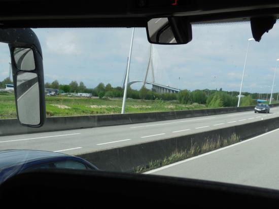 Pont de Normandie dans l'autre sens