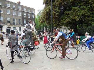 Russel square rassemblement vélos 10