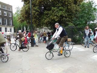 Russel square rassemblement vélos 11