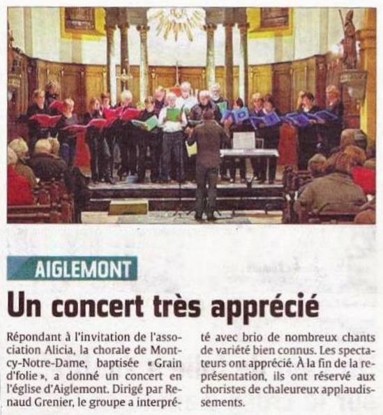 Article 2 concert aiglemont